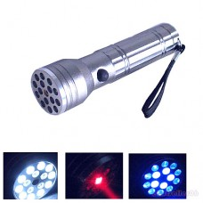 15 LED+UV+LASER Flashlight