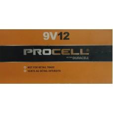 Duracell Procell  9 Volt Alkaline Batteries - 12 Pack Exp. 2023/2024